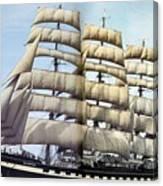 dk tall ships kruzenshtern barque lyr 1926 full D K Spinaker Canvas Print