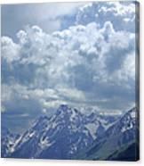 Dm9233 Clouds Over Mt. Moran V Canvas Print