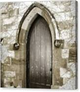 Do-00055 Chapels Door In Morpeth Village Canvas Print