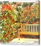 Do-00122 Inviting Bench Canvas Print