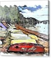 Do-00124 Tender Boats Canvas Print