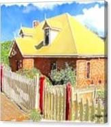 Do-00142 House And Fence Canvas Print