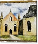 Do-00247 Church At Port Arthur Canvas Print