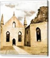 Do-00248 Church At Port Arthur Canvas Print