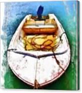 Do-00277 Boat In Hardys Bay Canvas Print