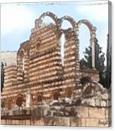 Do-00302 Ruins In Anjar Canvas Print