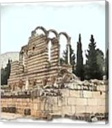 Do-00306 Old Ruins In Anjar Canvas Print