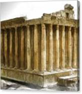 Do-00311 The Temple Of Bacchus Baalbeck Canvas Print
