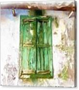 Do-00320 Soaked Window Canvas Print