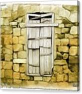 Do-00322 An Old Door And Wall Canvas Print