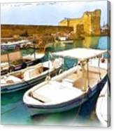 Do-00350 Byblos Port Canvas Print