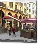 Do-00352 Downtown Coffee Shops Canvas Print