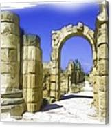 Do-00407 Roman Portico In Tyr Canvas Print