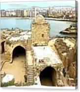 Do-00428 Citadel Looking On Sidon Canvas Print