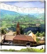 Do-00434 Church In North Lebanon Canvas Print