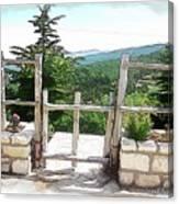 Do-00458 Fence Mar Charbel Chabel Canvas Print