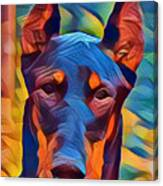 Doberman I C Canvas Print