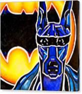 Dog Superhero Bat Canvas Print