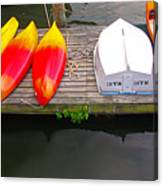 Dock And Boats Canvas Print