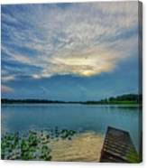 Dock At Shipshewana Lake Canvas Print