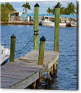 Dock In The Keys Canvas Print