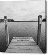 Dock No Diving  Canvas Print