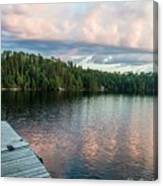 Dock Of The Lake Canvas Print