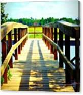 Dock On Alston Creek Canvas Print