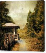 Dock On The Wetlands Canvas Print