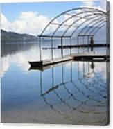 Dock Reflection Canvas Print