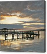 Dock Reflections Canvas Print