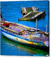 Docked Boat Canvas Print