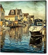 Docked At Pier In Orlieb Beach Nj Canvas Print
