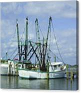Docked In Port Orange Canvas Print