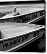 Docked Rowboats Canvas Print