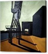 Dockland  Shadows Canvas Print
