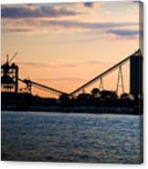 Dockside Sunset Canvas Print