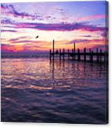 Dockside Sunset Canvas Print