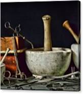 Doctor All Those Medical Instruments Canvas Print