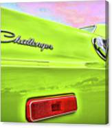 Dodge Challenger In Sublime Green Canvas Print