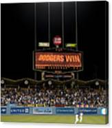 Dodgers Win Canvas Print