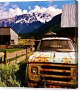 Dodging Mount Currie Canvas Print