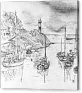 Doellan Sur Mer, Le Port Canvas Print