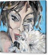 Dog And Diva Canvas Print