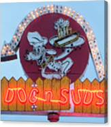 Dog And Suds Canvas Print