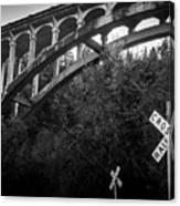 Dog Creek Bridge Railroad  Crossing Canvas Print