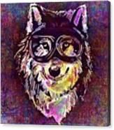 Dog Funny Cheeky Cap Animal Wild  Canvas Print