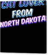 Dog Lover From North Dakota Canvas Print