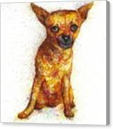 Dog painting Canvas Print