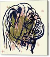 Dog Portrait - Pop Art Poster Canvas Print